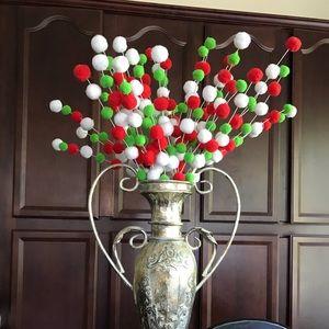 Christmas Pom stem holiday arrangement party decor